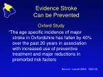 evidence stroke can be prevented