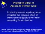 protective effect of access to primary care