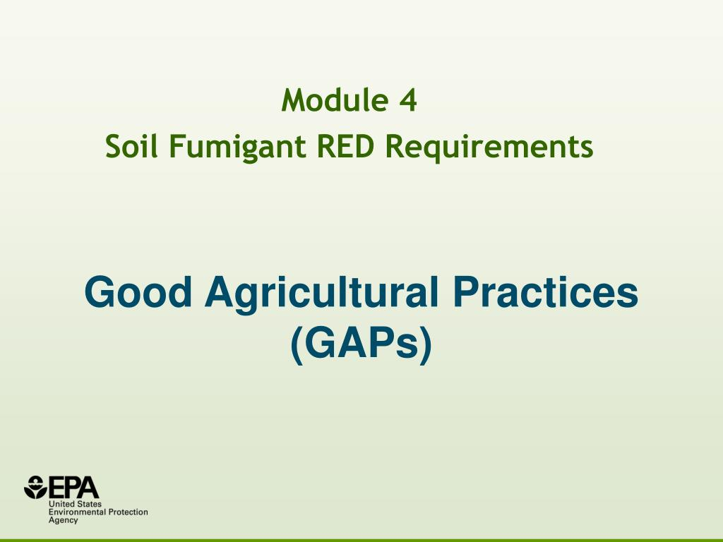 good agricultural practices gaps l.