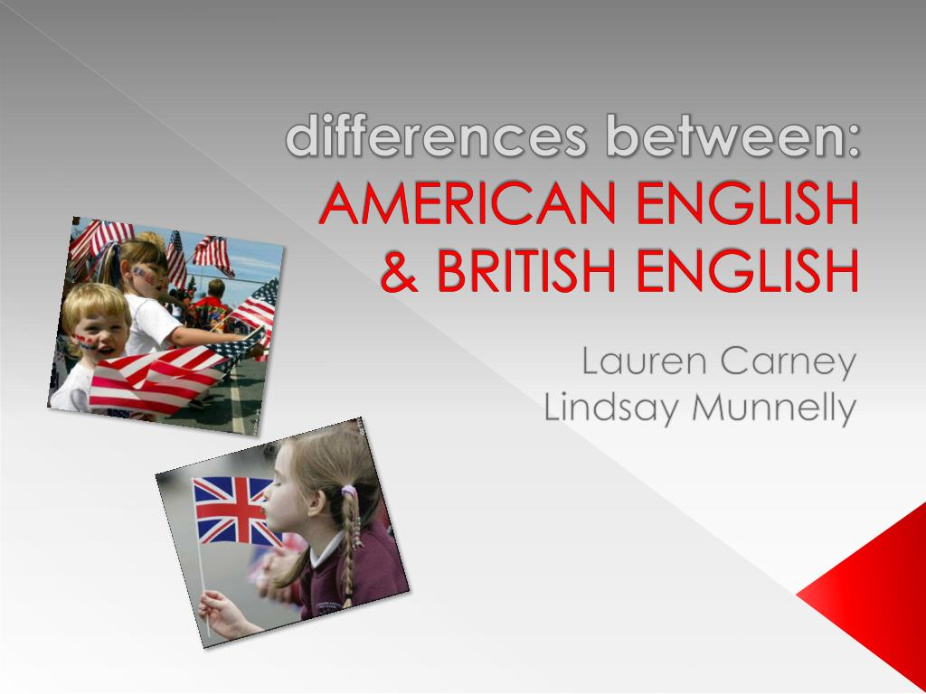 differences between american english british english l.