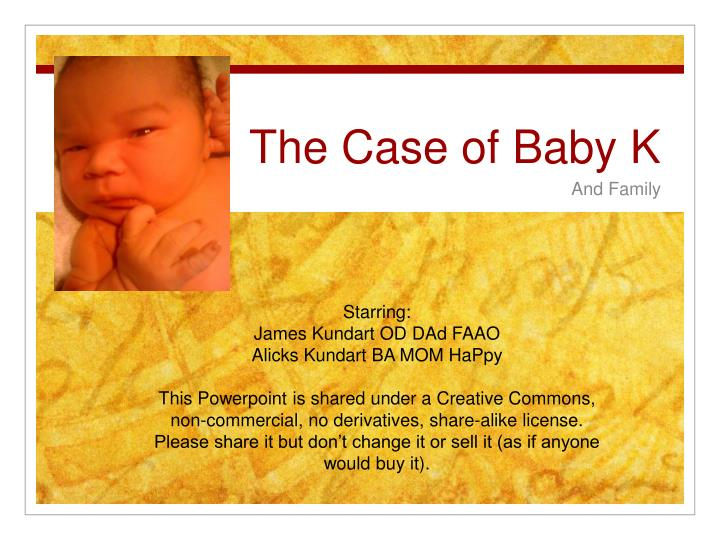 the case of baby k n.