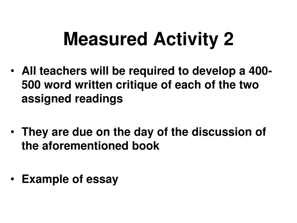 Measured Activity 2