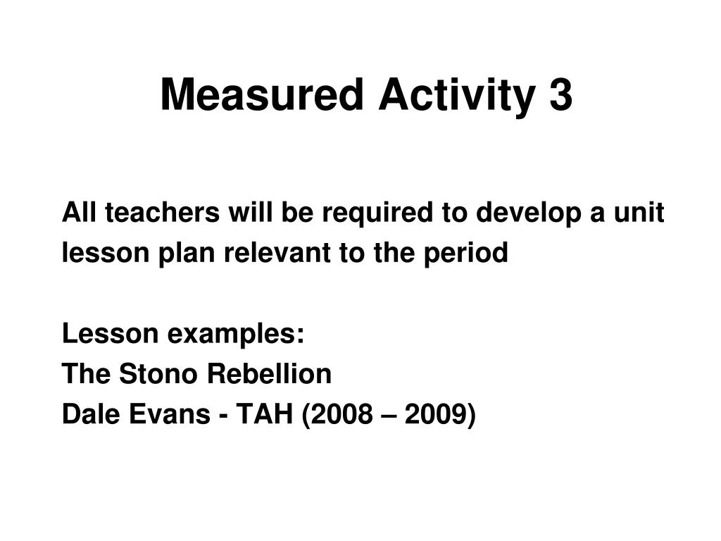 Measured Activity 3
