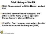 brief history of the pa6