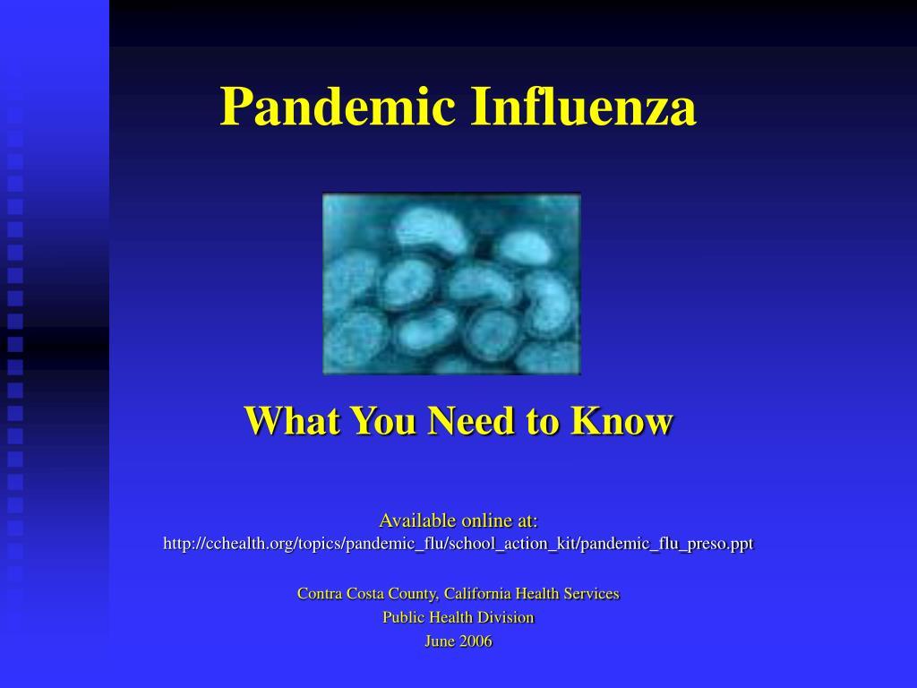 pandemic influenza l.