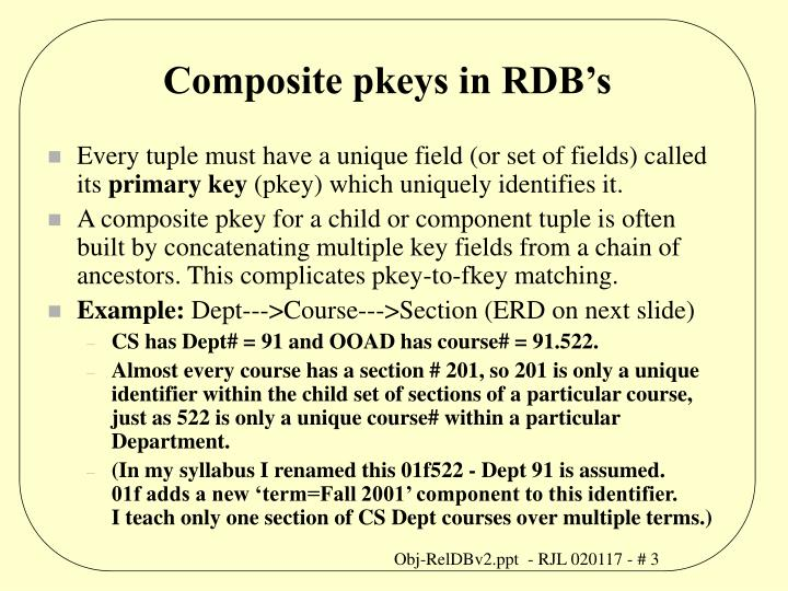 Composite pkeys in rdb s
