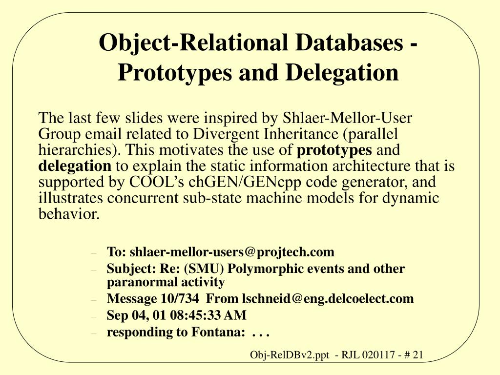 Object-Relational Databases -