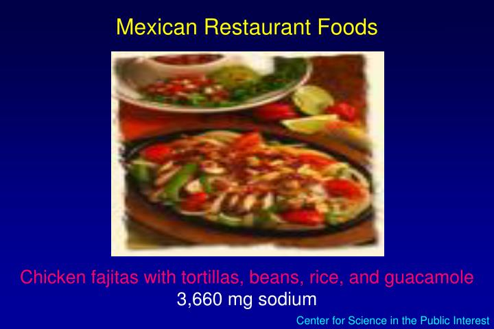 Mexican Restaurant Foods