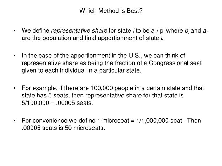 Which method is best3