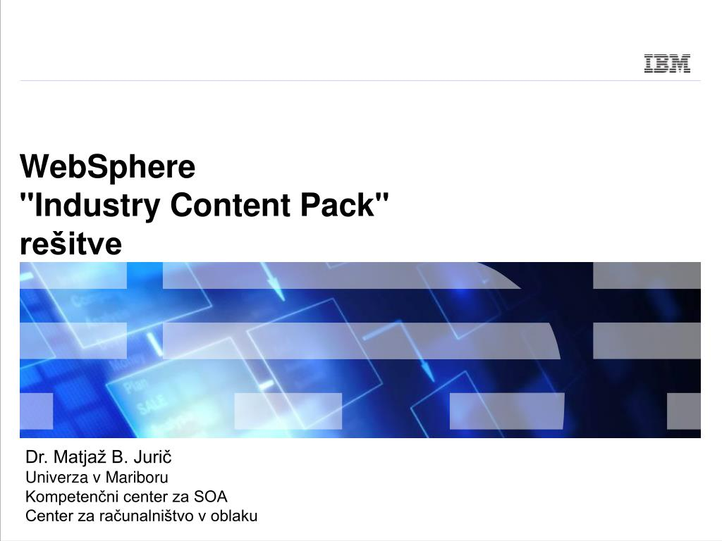 websphere industry content pack re itve l.