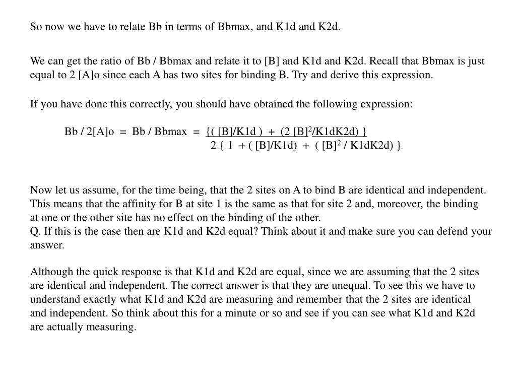 So now we have to relate Bb in terms of Bbmax, and K1d and K2d.