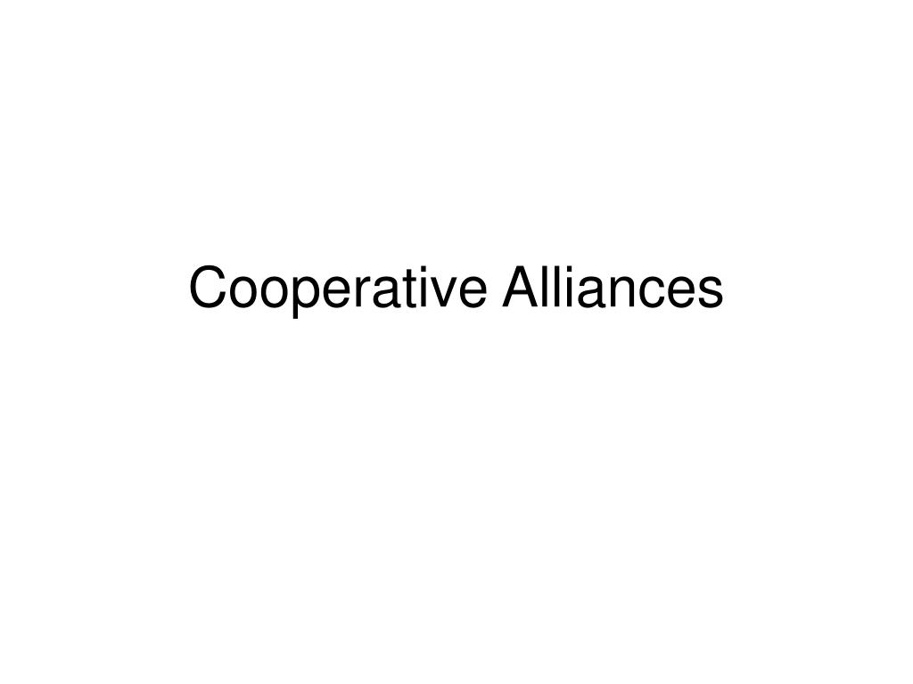 cooperative alliances l.