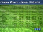 finance reports income statement
