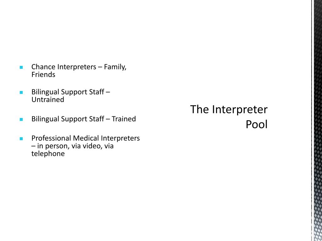 Chance Interpreters – Family, Friends