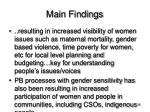 main findings10