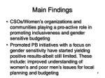main findings9
