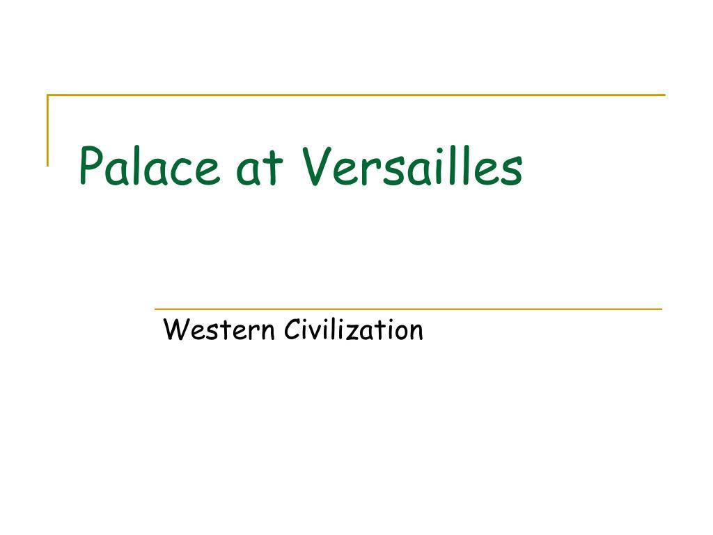palace at versailles l.