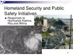 homeland security and public safety initiatives