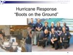 hurricane response boots on the ground