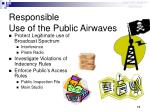 responsible use of the public airwaves