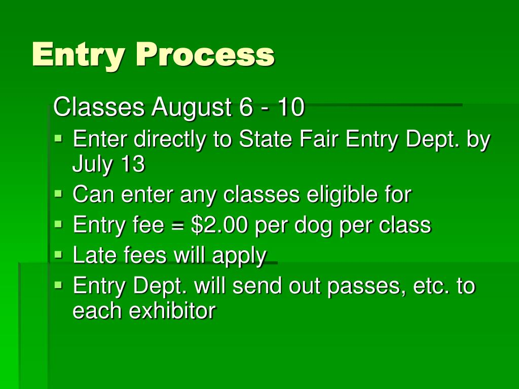 Entry Process