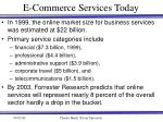 e commerce services today