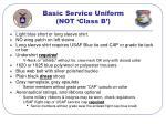 basic service uniform not class b