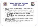 basic service uniform not class b41