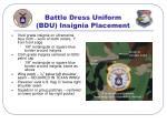 battle dress uniform bdu insignia placement