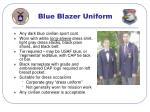 blue blazer uniform