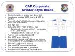 cap corporate aviator style blues