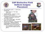 cap distinctive field uniform insignia placement28