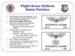 flight dress uniform name patches