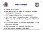 mess dress