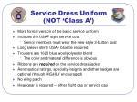 service dress uniform not class a