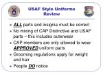 usaf style uniforms review