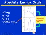 absolute energy scale