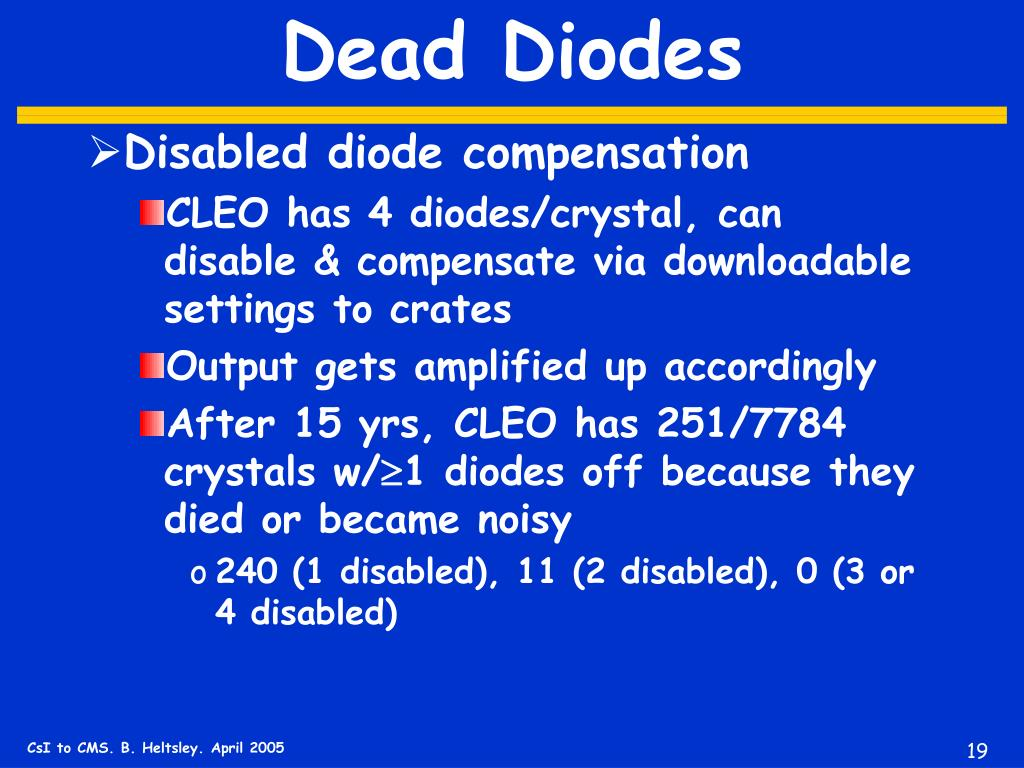 Dead Diodes