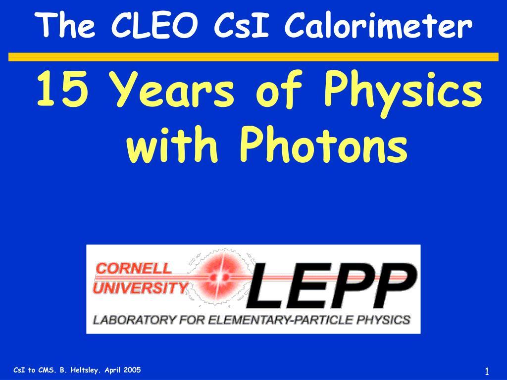 the cleo csi calorimeter l.