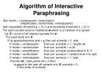 algorithm of interactive paraphrasing