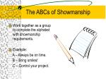 the abcs of showmanship