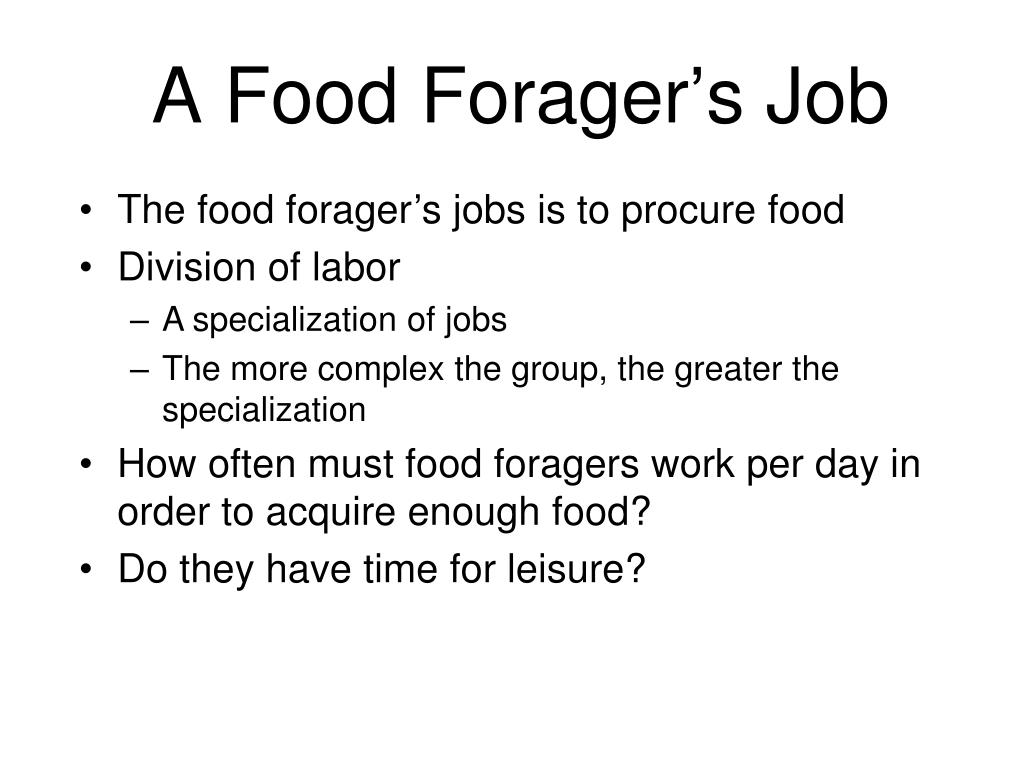 A Food Forager