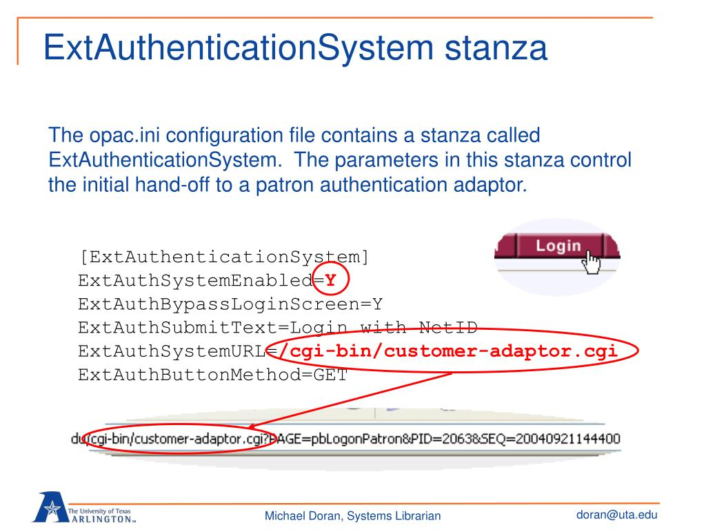 PPT - Overview of Voyager External Patron Authentication