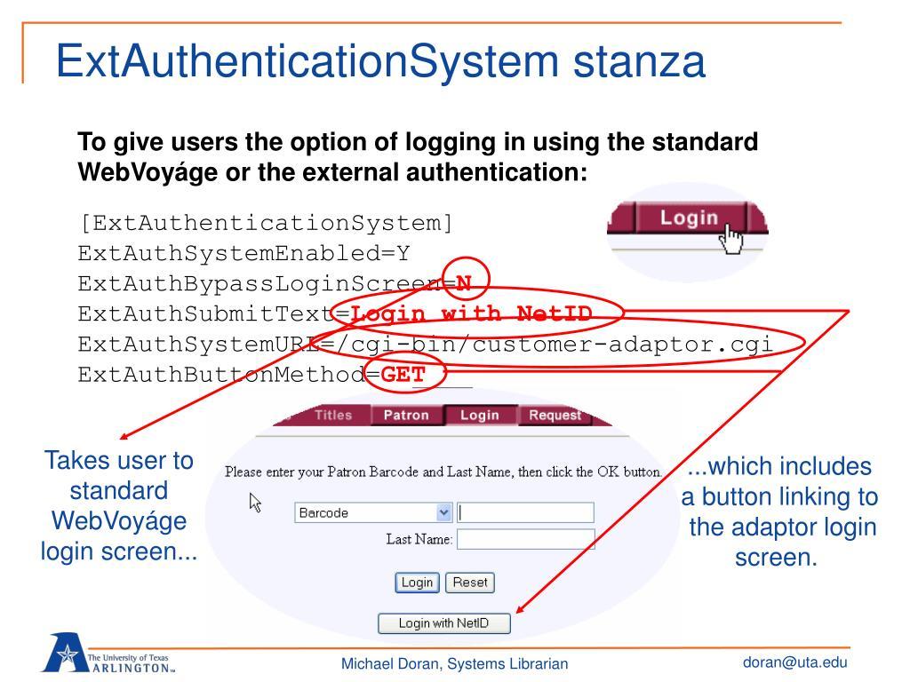 ExtAuthenticationSystem stanza