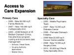 access to care expansion
