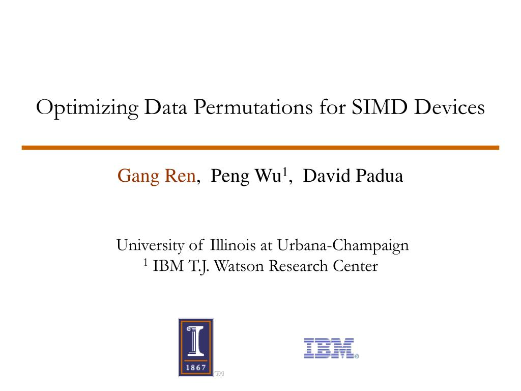 optimizing data permutations for simd devices l.
