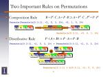 two important rules on permutations