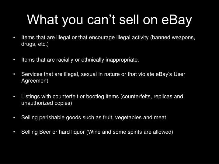 What you can t sell on ebay