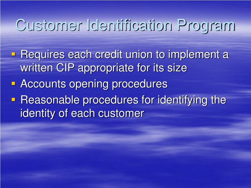 Customer Identification Program