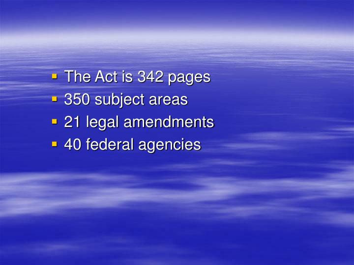 The Act is 342 pages